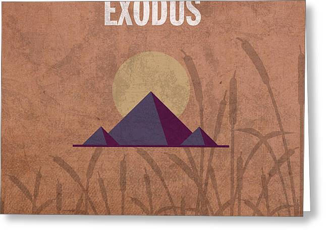 Exodus Books of the Bible Series Old Testament Minimal Poster Art Number 2 Greeting Card by Design Turnpike