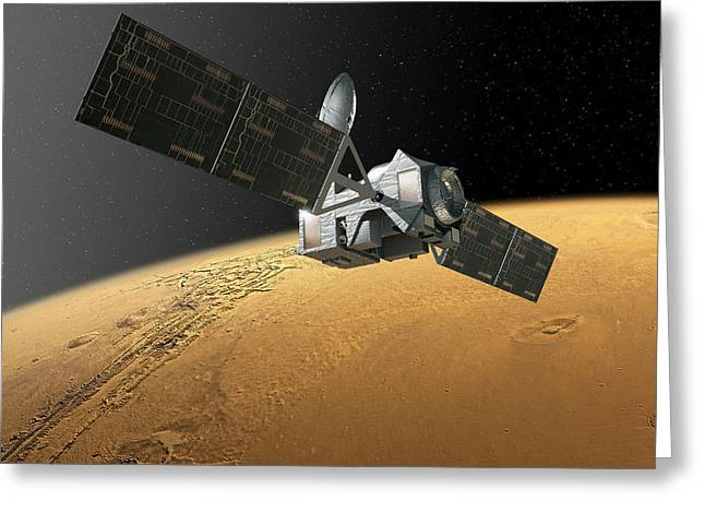 Exomars Trace Gas Orbiter Greeting Card by European Space Agency