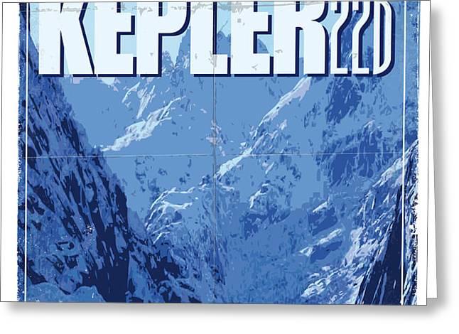Exoplanet 02 Travel Poster KEPLER 22b Greeting Card by Chungkong Art