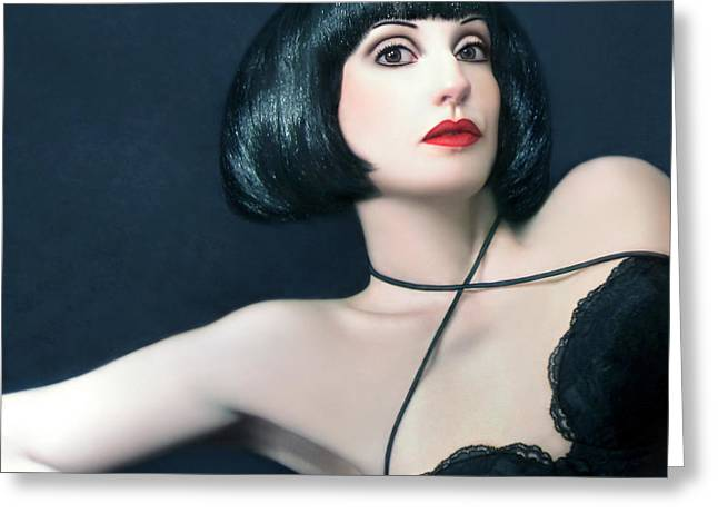 Self-portrait Photographs Greeting Cards - Exotic Beauty - Self Portrait Greeting Card by Jaeda DeWalt