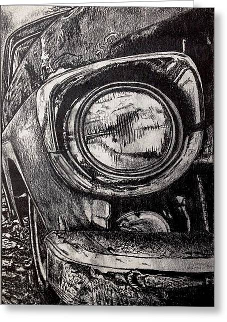 Country Dirt Roads Drawings Greeting Cards - Exotic Car Greeting Card by Matt Condie