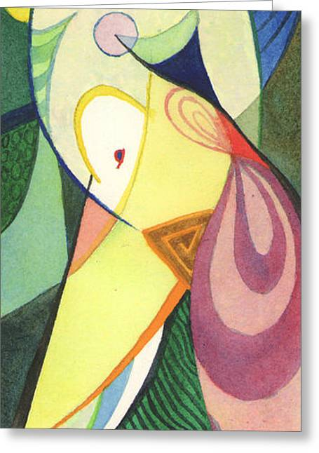 Recently Sold -  - Geometric Shape Greeting Cards - Exotic Dancer Greeting Card by David Ralph