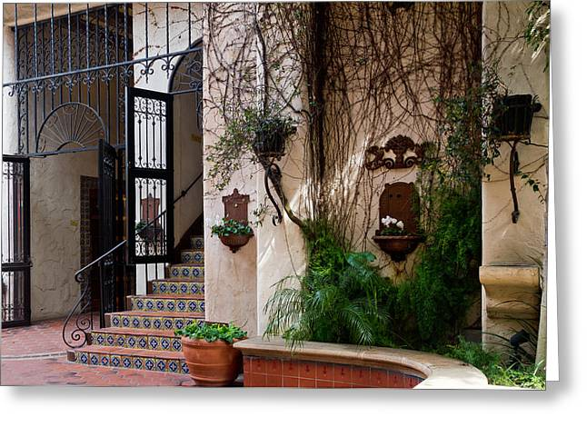 Grillwork Greeting Cards - Exotic Entrance II Greeting Card by Bernard  Barcos