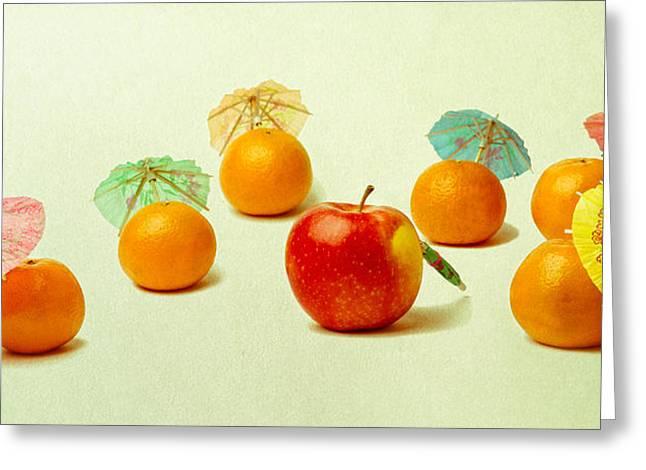 Exotic Fruit Greeting Card by Alexander Senin