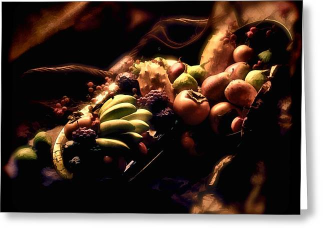 Passion Fruit Greeting Cards - Exotic Fruit Bowl Greeting Card by Peter Hogg