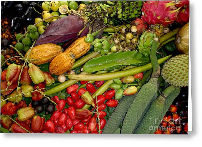Mango Greeting Cards - Exotic fruits Greeting Card by Carey Chen