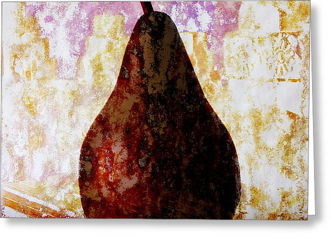 Brown Pears Greeting Cards - Exotic Pear Greeting Card by Carol Leigh