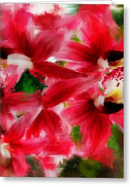 Feminity Greeting Cards - Exotically Pink Greeting Card by Lourry Legarde
