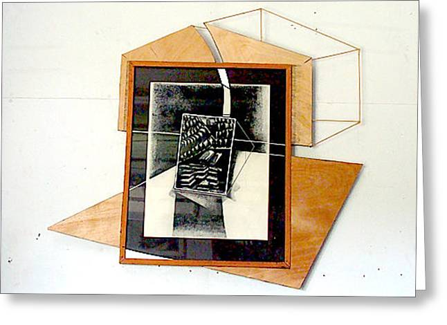 White Frame House Mixed Media Greeting Cards - Expanded Grahic 2 Greeting Card by Al Goldfarb