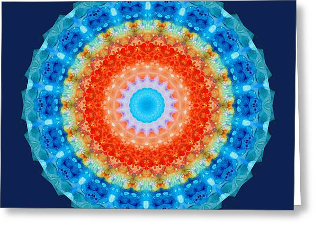 Mantra Greeting Cards - Expanding Energy 1 - Mandala Art By Sharon Cummings Greeting Card by Sharon Cummings