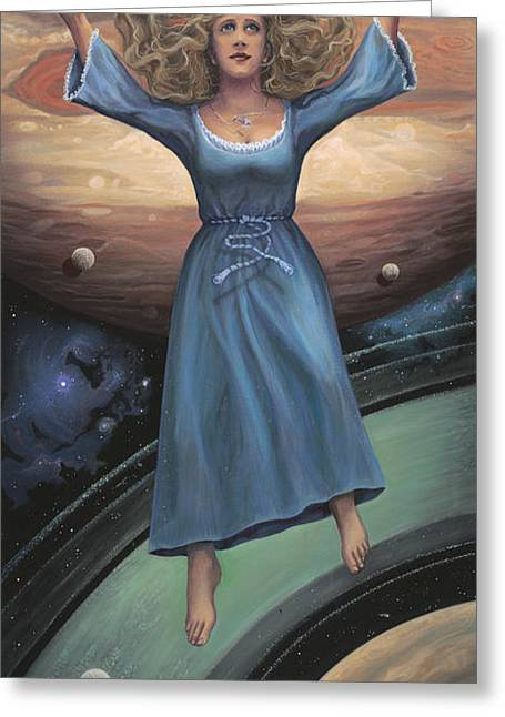 Opposition Paintings Greeting Cards - Expansion Greeting Card by Brenda Ferrimani