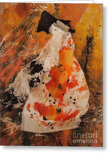 Orange Sculptures Greeting Cards - Expectant Greeting Card by Nancy Kane Chapman