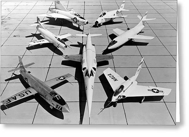 Experimental Aircraft Greeting Card by Nasa Photo