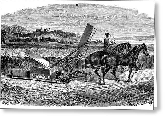 Experimental Harvester Greeting Card by Science Photo Library