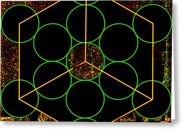 Geometric Shape Greeting Cards - Experiments with Geometry 3 Greeting Card by Dorothy Berry-Lound