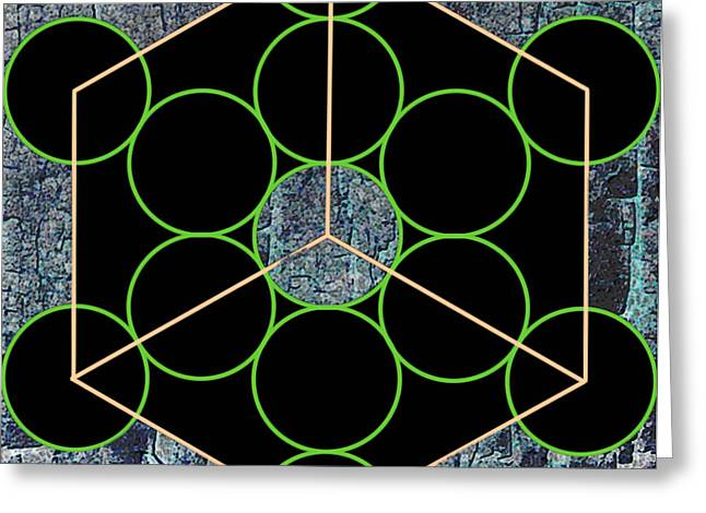 Inner Reality Greeting Cards - Experiments with Geometry 5 Greeting Card by Dorothy Berry-Lound