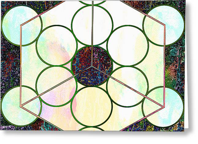 Chakra Rainbow Digital Greeting Cards - Experiments with Geometry 7 Greeting Card by Dorothy Berry-Lound