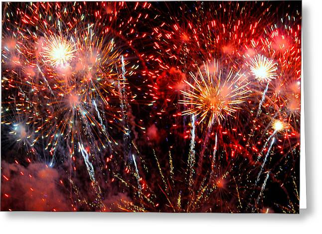 Explode Greeting Card by Diana Angstadt