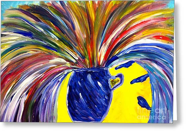 Exploding Breakthrough  Greeting Card by Stephanie Wogoman