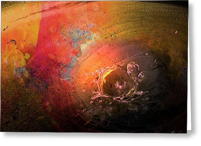 Water Drops On Rose Greeting Cards - Exploding Rose Greeting Card by Ernestine Manowarda