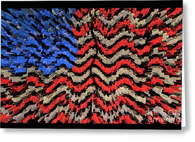 Exploding With Patriotism Greeting Card by John Farnan