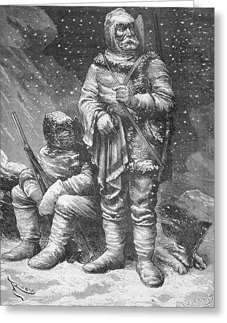 Harsh Conditions Greeting Cards - Exploration costumes Greeting Card by Charles Barbant