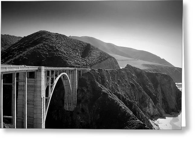 Bixby Bridge Greeting Cards - Explore Greeting Card by Mike Irwin