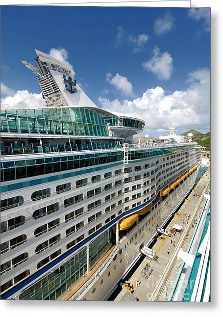 Royal Greeting Cards - Explorer of the Seas seen from Adventure of the Seas Greeting Card by Amy Cicconi