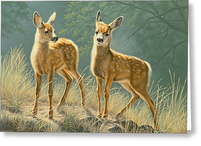 Fawn Greeting Cards - Explorers Greeting Card by Paul Krapf
