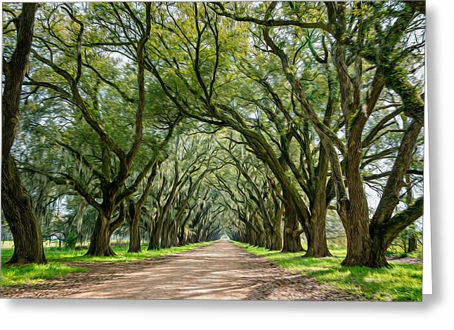 Back Roads Digital Art Greeting Cards - Exploring Louisiana - Oil Paint  Greeting Card by Steve Harrington