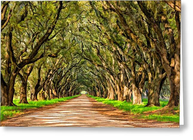 Back Road Digital Greeting Cards - Exploring Louisiana paint Greeting Card by Steve Harrington