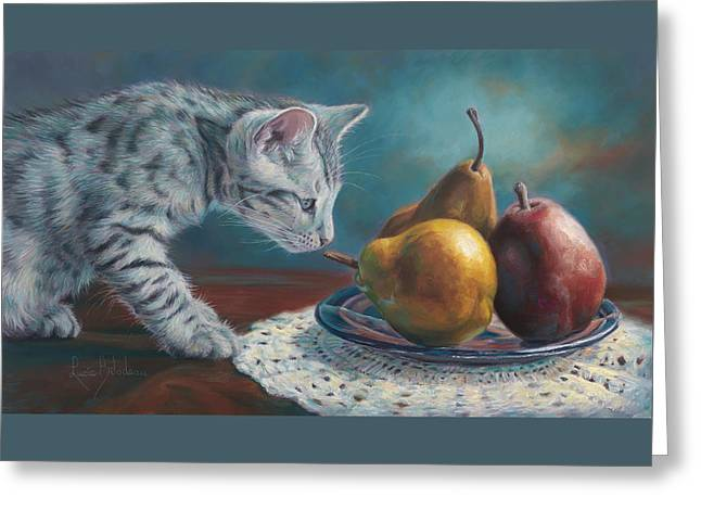 Domestic Cat Greeting Cards - Exploring Greeting Card by Lucie Bilodeau