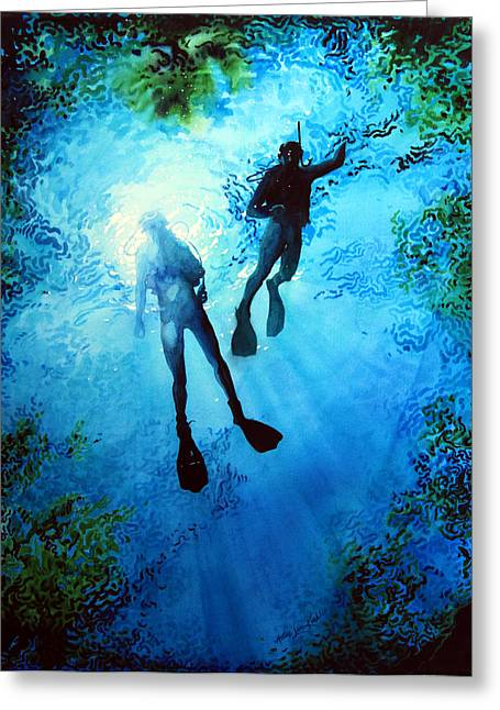 Sports Artist Greeting Cards - Exploring New Worlds Greeting Card by Hanne Lore Koehler