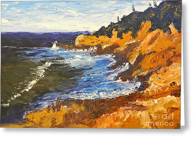 Exploring On The Rocks  Greeting Card by Pamela  Meredith