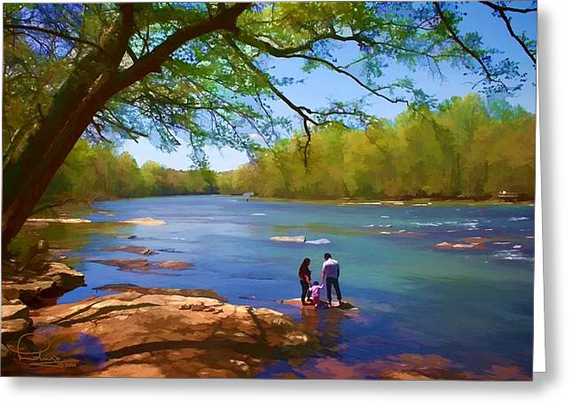 Scenic Greeting Cards - Exploring the River Greeting Card by Ludwig Keck