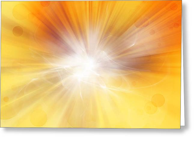 Detonation Greeting Cards - Explosion  Greeting Card by Les Cunliffe