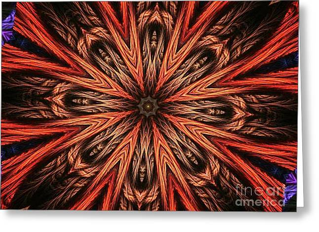 Explosion Of A Carrot  Greeting Card by Fania Simon