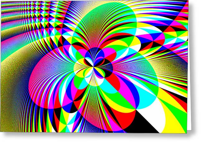 Algorithmic Greeting Cards - Explosion of Colors Greeting Card by Joel Kahn