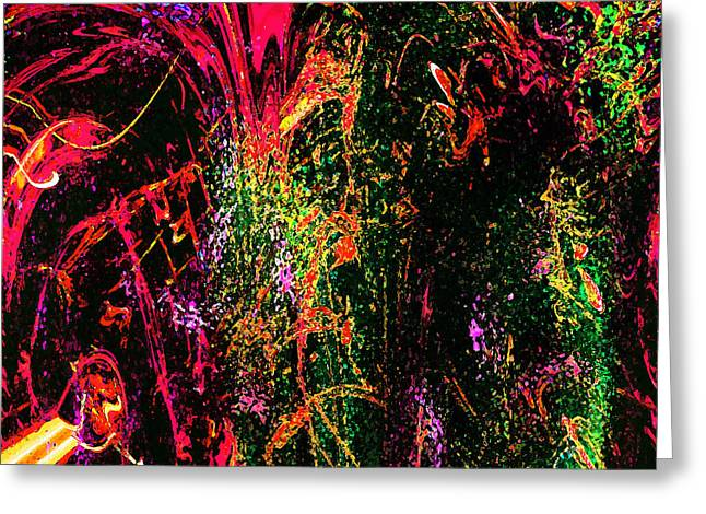 Explosion Of Desire Greeting Card by Ashantaey Sunny-Fay