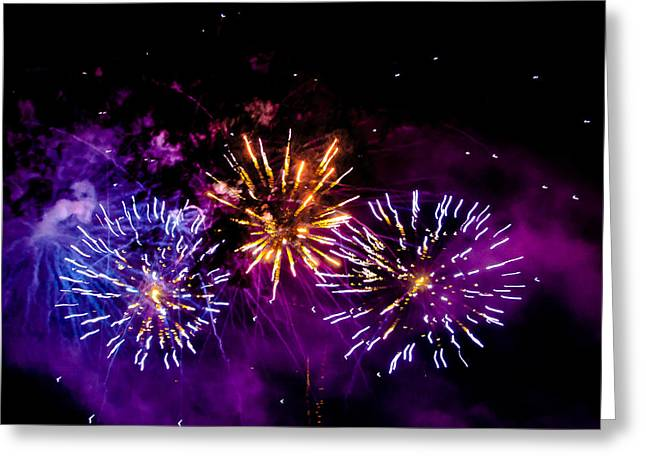 4th July Greeting Cards - Explosions on the Fourth Greeting Card by David Patterson