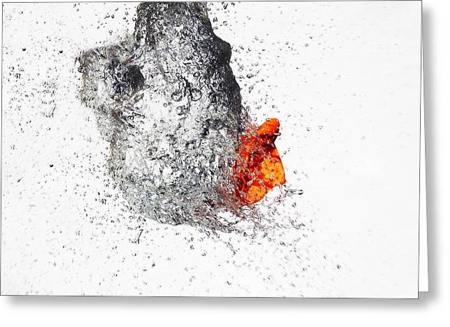 Jay Harrison Greeting Cards - Explosive Water Balloon Greeting Card by Jay Harrison