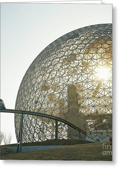 Geodesic Greeting Cards - Expo 67, Montreal, Canada Greeting Card by Van D. Bucher