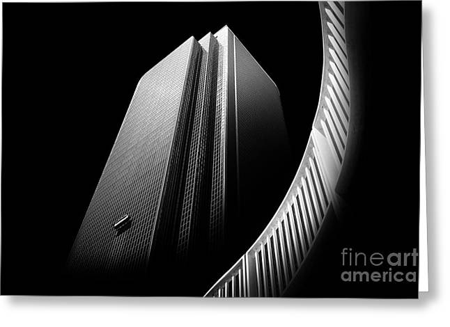 Shade Photographs Greeting Cards - Express Elevator Greeting Card by Az Jackson