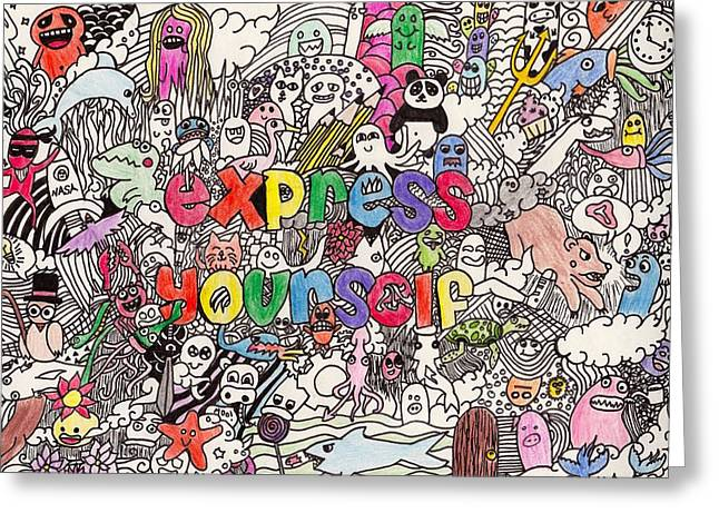 Express Yourself Greeting Cards - Express Yourself Greeting Card by Moriah Kesinger