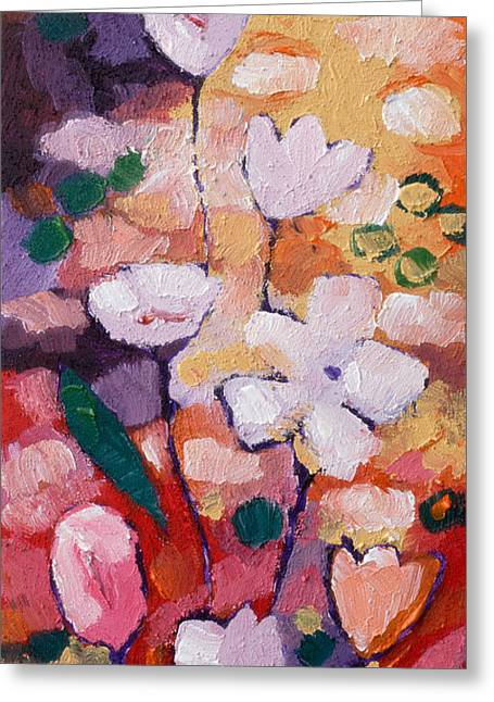 Abstract Expressionist Greeting Cards - Expressionist Flowers Greeting Card by Lutz Baar
