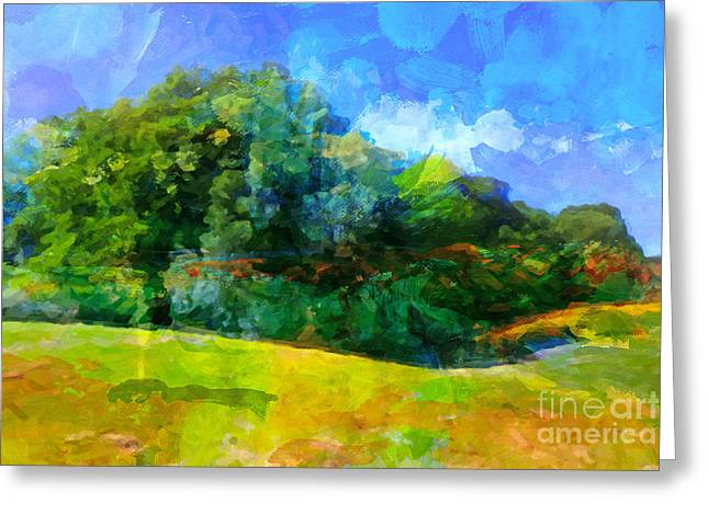Impressionism Digital Greeting Cards - Expressive Landscape Greeting Card by Lutz Baar