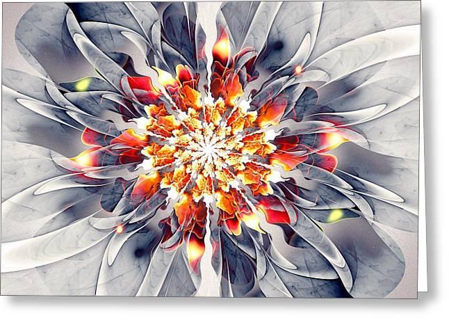 Blooming Mixed Media Greeting Cards - Exquisite Greeting Card by Anastasiya Malakhova