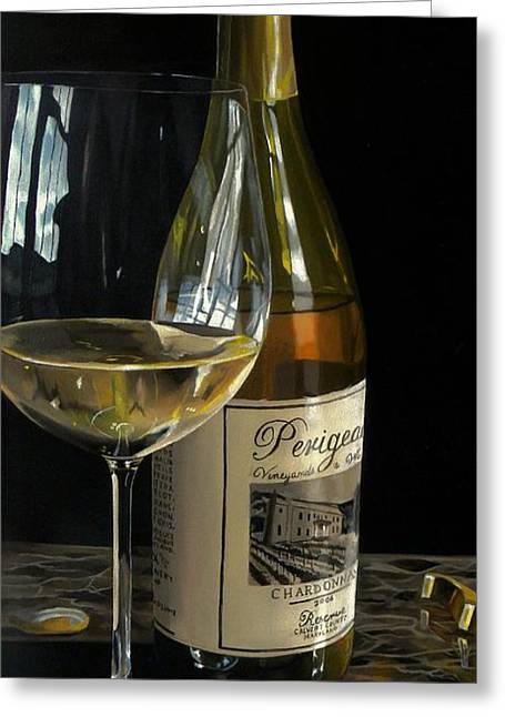 Virginia Wine Art Greeting Cards - Exquisite Taste Greeting Card by Brien Cole