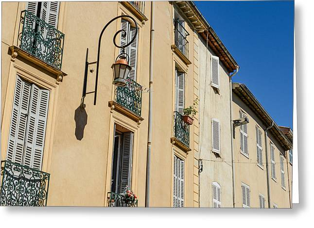 French Open Greeting Cards - Exterior of Homes in France Greeting Card by Brandon Bourdages