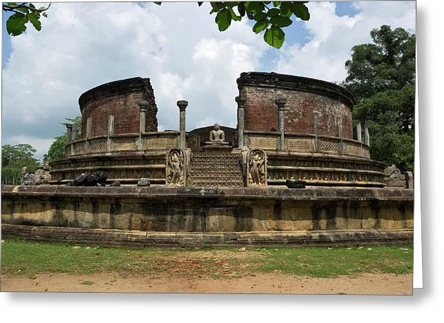 Exterior Of Polonnaruwa Vatadage Greeting Card by Panoramic Images